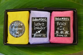 Floral Range 3 Bar Assorted Gift Box Set - Olive Oil Soaps